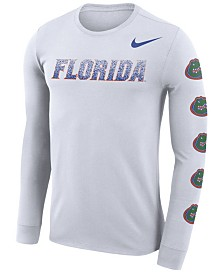 Nike Men's Florida Gators Repeat Logo Long Sleeve T-Shirt