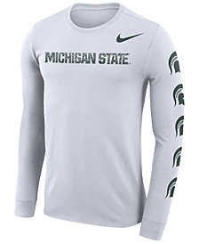 Nike Men's Michigan State Spartans Repeat Logo Long Sleeve T-Shirt