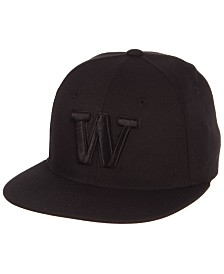 Zephyr Washington Huskies M15 Black on Black Fitted Cap