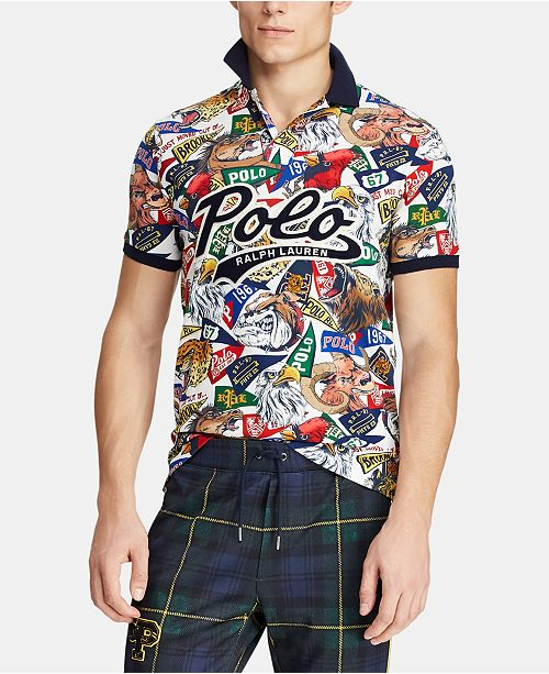Polo Ralph Lauren Men's Big & Tall Classic Fit Graphic  Polo