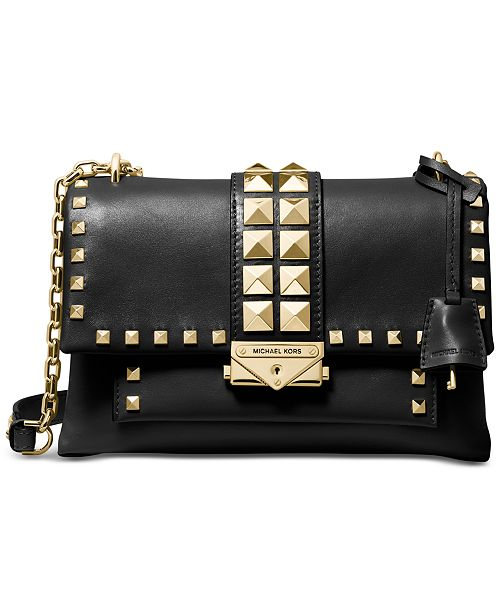 808888f56 Michael Kors Cece Studded Leather Chain Shoulder Bag & Reviews ...