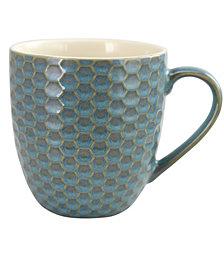 Elama Honeysuckle 6 Piece 15 Ounce Mug Set, Assorted Colors