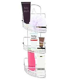 Three Rack Shower Caddy with Foldaway Shelves