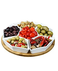 "Signature 12"" 7 Piece Condiment Server Set"