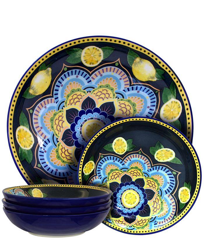Laurie Gates - Elama Fruitful Bounty 5 Piece Pasta Serving Bowl Set