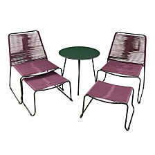Courtyard Casual Madera Aluminum Outdoor Relax 5 Piece Set