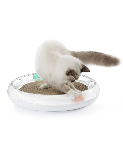 Pet Life Central Petkit 'Swipe' Interactive Cat Scratcher and Chaser Lounger Toy