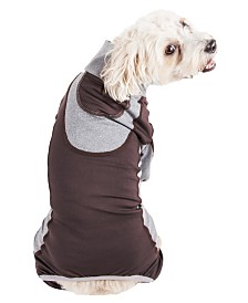 Pet Life Active 'Warm-Pup' Performance Two Toned Full Body Warm Up