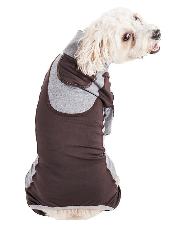 Pet Life Central Pet Life Active 'Warm-Pup' Performance Two Toned Full Body Warm Up