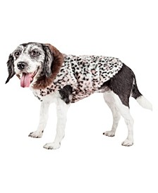 Pet Life Luxe 'Furracious' Cheetah Patterned Faux Fur Dog Coat Jacket