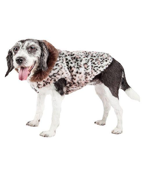 Pet Life Central Pet Life Luxe 'Furracious' Cheetah Patterned Faux Fur Dog Coat Jacket
