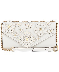 Nine West 3D Floral Wallet On A String