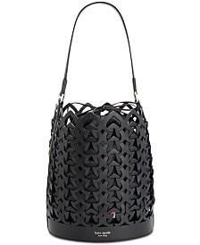 kate spade new york Dorie Woven Leather Bucket Bag