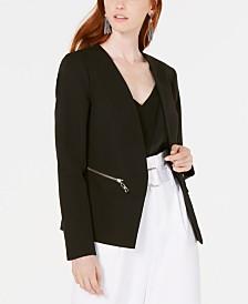 Bar III Zip-Pocket Blazer Jacket, Created for Macy's