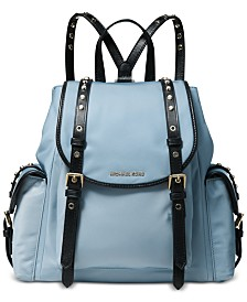 226b24022376 Michael Kors Leila Medium Flap Nylon Backpack & Reviews - Handbags ...