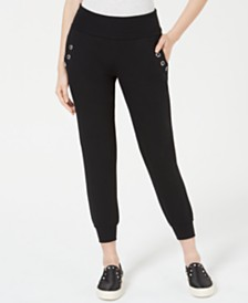 Material Girl Juniors' Grommet Biker Sweatpants, Created for Macy's