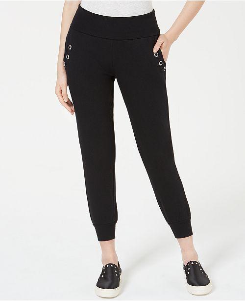 Material Girl Juniors' Grommet Biker Sweatpants, Created for Macy's