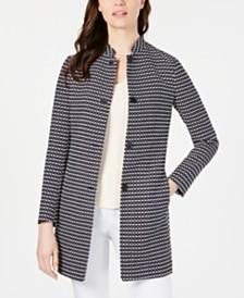 Anne Klein Ribbon-Tweed Topper Jacket