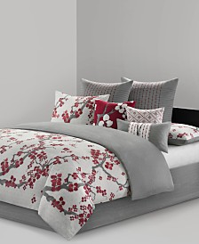 N Natori Cherry Blossom Cal King 4 Piece Comforter Set