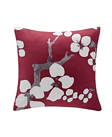 "N Natori Cherry Blossom 18""x 18"" Square Pillow"