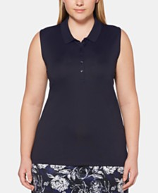 Callaway Plus Size Sleeveless Golf Polo