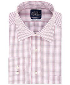 Eagle Men's Classic/Regular Fit Non-Iron Flex Collar Check Dress Shirt