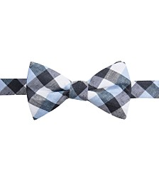 Ryan Seacrest Distinction™ Men's Cyprie Check Pre-Tied Bow Tie, Created for Macy's