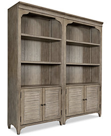 York Home Office Bookcase, Set of 2