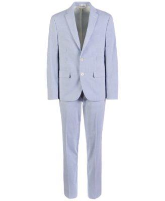 Big Boys Classic-Fit Seersucker Stripe Suit Pants