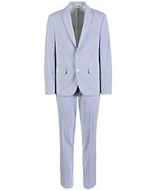 Big Boys Classic-Fit Seersucker Stripe Suit Separates