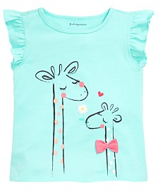 First Impressions Baby Girls Giraffe Graphic Flutter Top, Created for Macy's