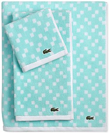 "Lacoste Mini Squares Cotton 30"" x 54"" Bath Towel"