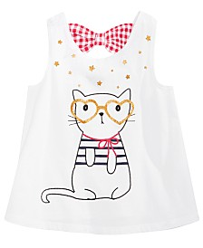 First Impressions Baby Girls Cat Graphic Cotton Tunic, Created for Macy's