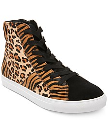 Steve Madden Men's Argos Animal-Print High-Top Sneakers