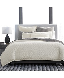 Hotel Collection Interlock Cotton King Duvet, Created for Macy's