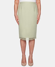 Alfred Dunner Southampton Embellished Pencil Skirt