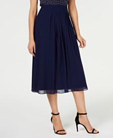 Anne Klein Pleated Midi Skirt