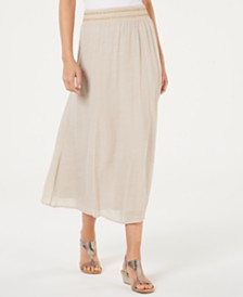 JM Collection Crinkle Gauze Maxi Skirt, Created for Macy's