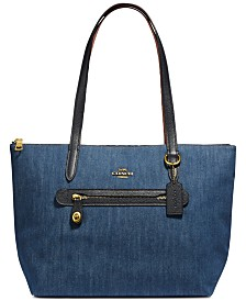 1b197d8313 COACH Denim Taylor Tote