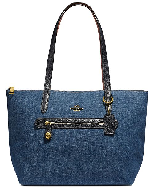 COACH Denim Taylor Tote