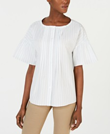 Weekend Max Mara Scilla Cotton Striped Blouse