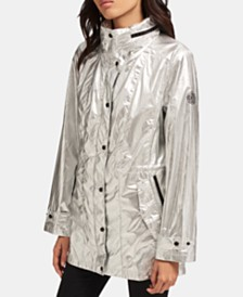 DKNY Silver Shine Anorak Jacket