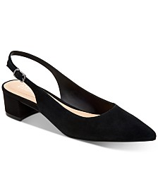 Alfani Charrlee Step 'N Flex Block-Heel Slingback Pumps, Created for Macy's
