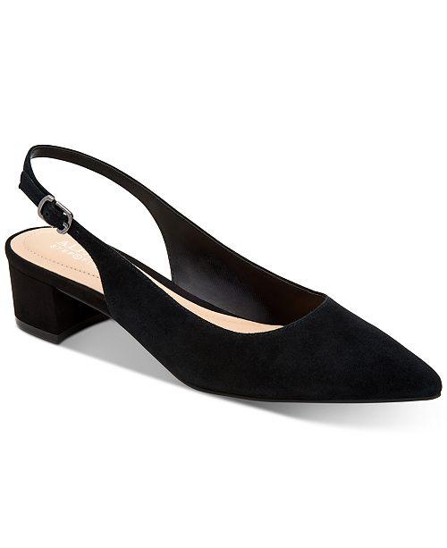 58a48db05b ... Alfani Charrlee Step 'N Flex Block-Heel Slingback Pumps, Created for  Macy's ...