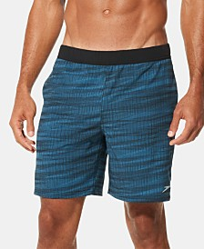 "Speedo Men's Active Flex Stretch 7-1/2"" Hybrid Tech Swim Shorts"