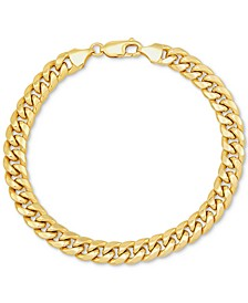 Men's Miami Cuban Link Bracelet in 10k Gold