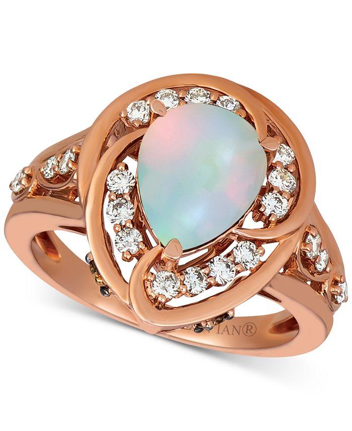 Le Vian - Neopolitan Opal (1 ct. t.w.) & Diamond (1/2 ct. t.w.) Statement Ring in 14k Rose Gold