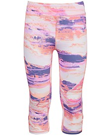 Ideology Big Girls Desert-Print Caged Capri Leggings, Created for Macy's