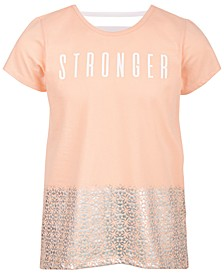 Big Girls Stronger Graphic T-Shirt, Created for Macy's
