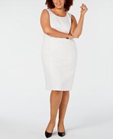Kasper Plus Size Jacquard Sheath Dress